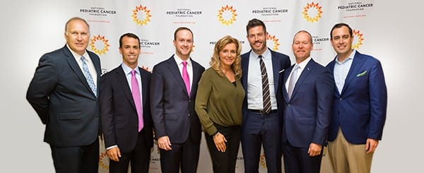 National Pediatric Cancer Foundation Founder Melissa Helms CEO David Frazer National Spokesperson Jesse Palmer and Committee