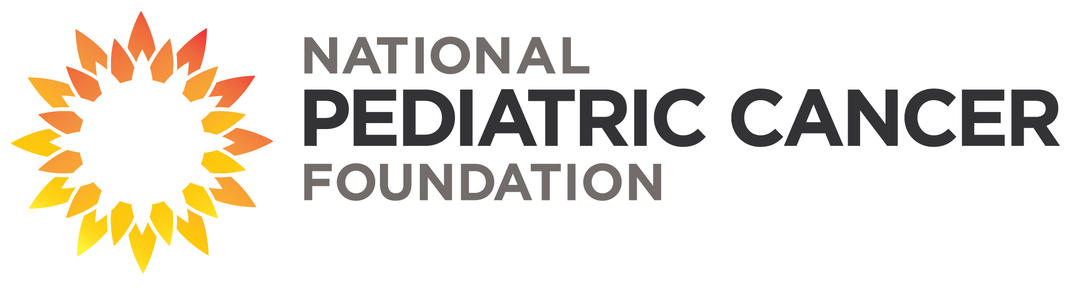 National Pediatric Cancer Foundation Horizontal Full Color Logo