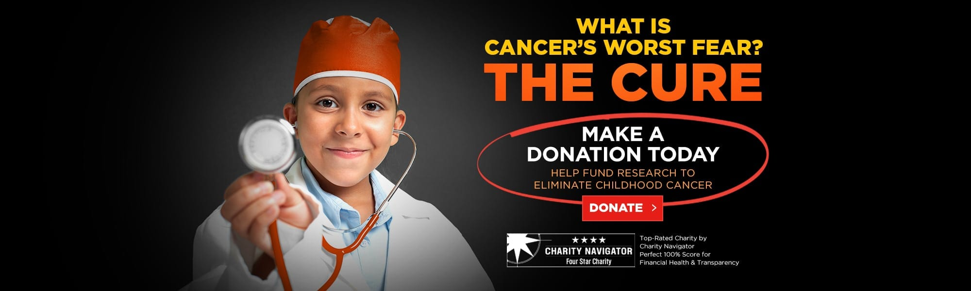 What is Cancer's Worst Fear? - The Cure! Make A Secure Donate Today