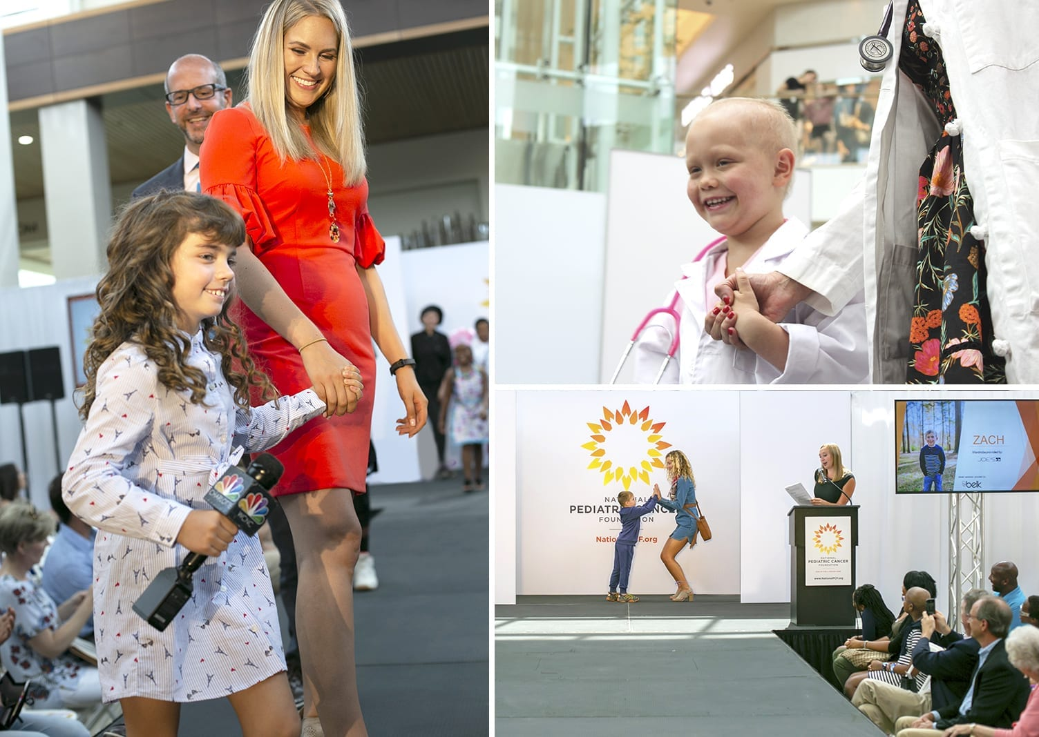 Photo collage from Fashion Funds the Cure Event