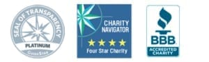 Accreditation Logos - GuideStar - Charity Navigator - BBB Accredited Charity