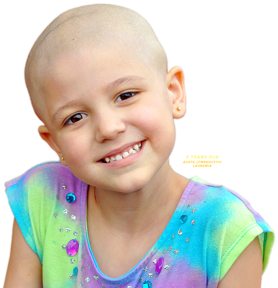 Picture of Kayleigh 9 years old with Acute Lymphocytic Leukemia