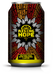 Rising Hope Can with Artwork