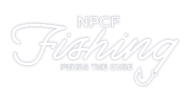 NPCF Fishing Funds the Cure All White Logo