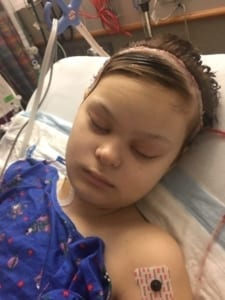 Madison in Her Hospital Bed