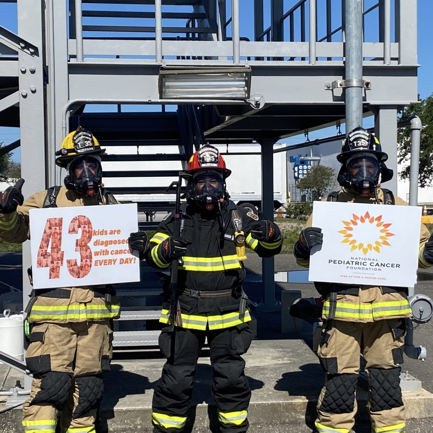 Firefighters join the #43challenge!