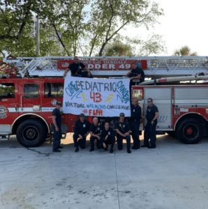 The Fort Lauderdale Fire station made this banner to join team 43 in the 43 challenge and do 43 campaign!