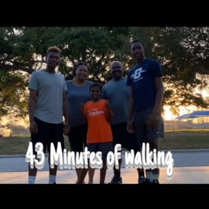 Cayden and his family walked for 43 minutes to join team 43 in the 43 challenge and do 43 campaign!